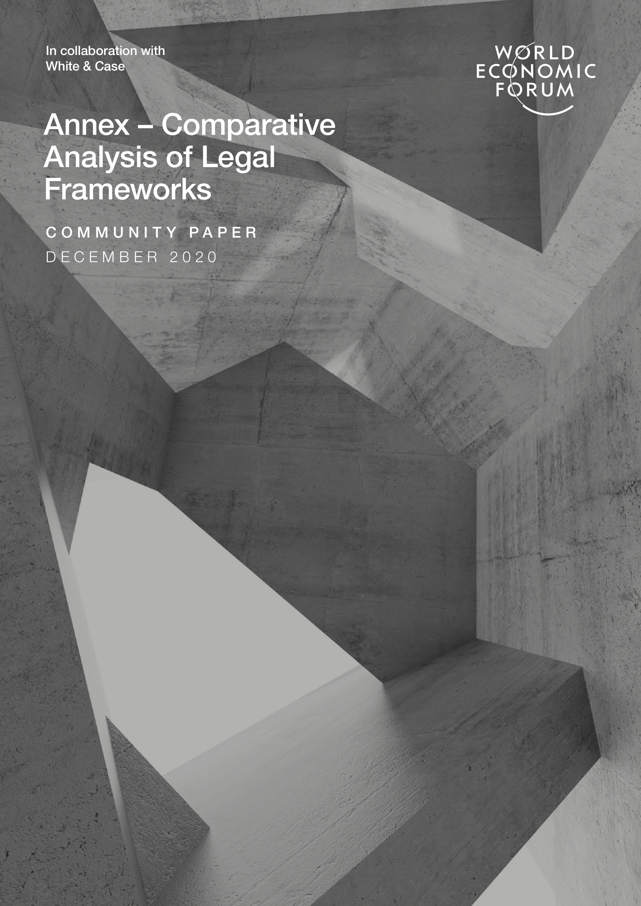 Annex – Comparative Analysis of Legal Frameworks, December 2020